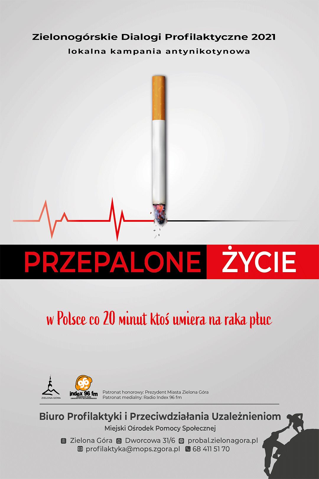 """Ilustracja do informacji: Kampania antynikotynowa """"Przepalone..."""