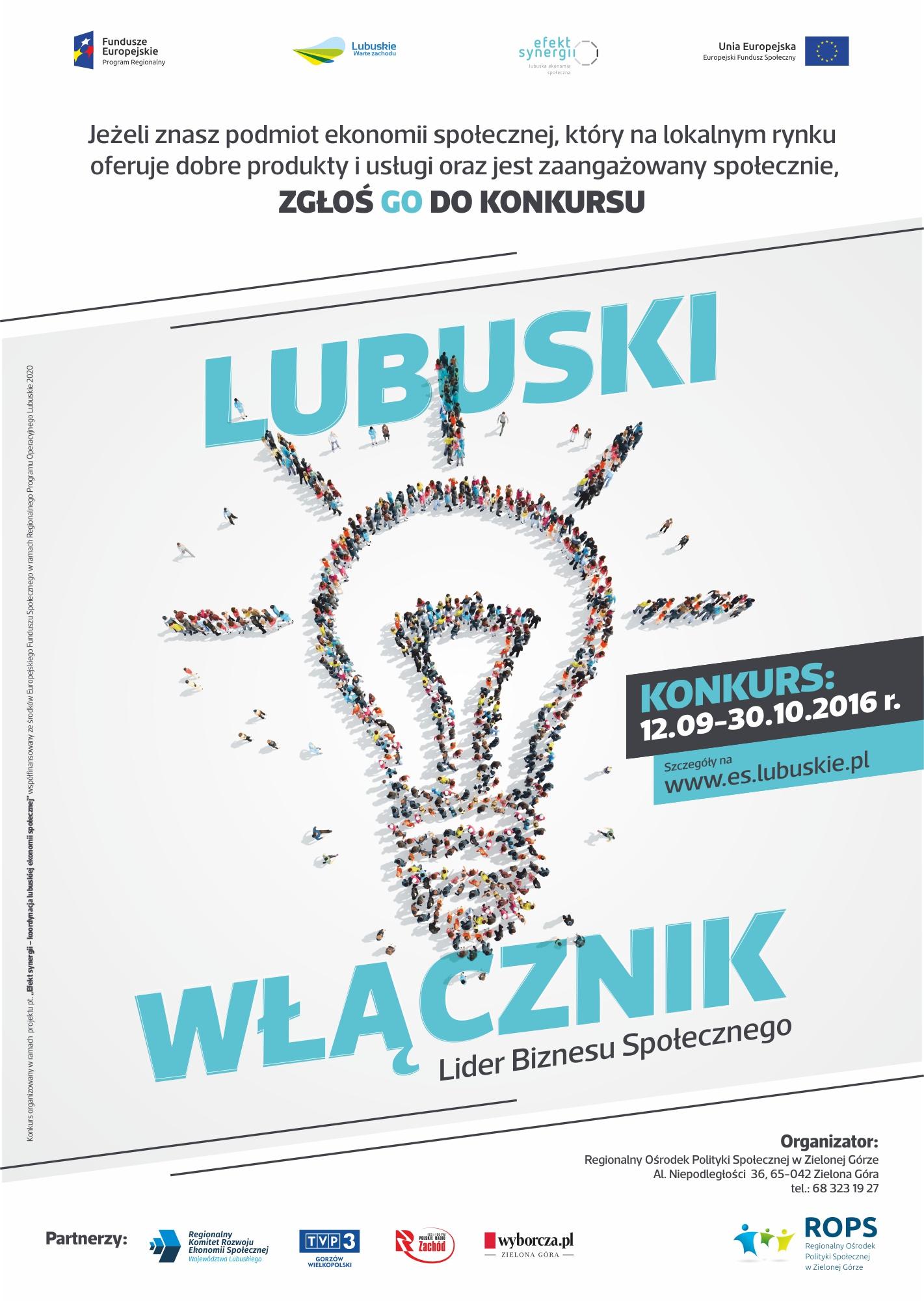 Ilustracja do informacji: Ruszył konkurs Lubuski Włącznik -...